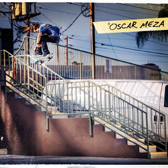 Autobahn AM @oscarmezzza can backside flip off cliffs. This @fkdbearings ad in the new @thrashermag was probably stomped in a few tries. #autobahnwheels