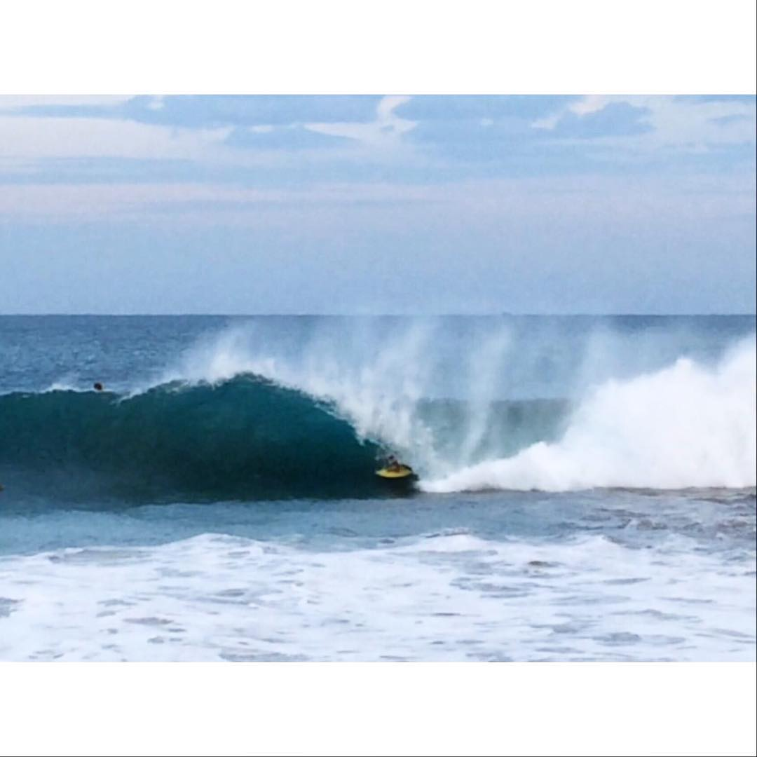 Josh Lorey getting some in Mexico this last week on a new prototype called the Blender. Stay Tuned! 5'8 x 19 3/8 x 2 3/8 – 27.3L. Photo by Matt Porter #awesome #awesomesurfboards #theBlender#newmodelcomingsoon