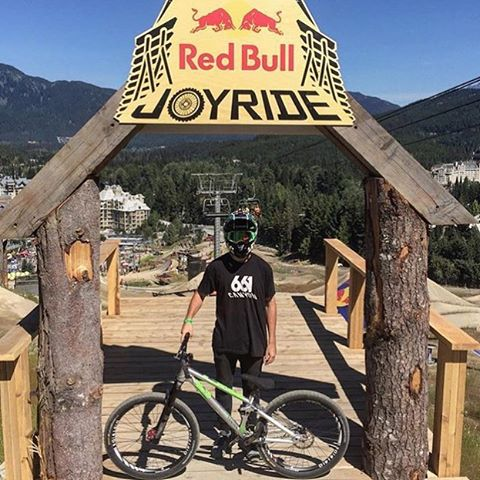 Shout out to @tomaslemoine for his 7th spot finish at #rbjoyride #Crankworx #Whistler this weekend! Pumped for you dude