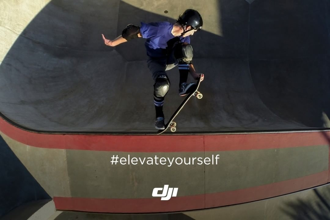 Some do it by flying 6 feet above the quarter pipe. How do you get your adrenaline rush? Join SkyPixel's #ElevateYourself and win a #DJI #Phantom4! Click the link in our bio to learn more.