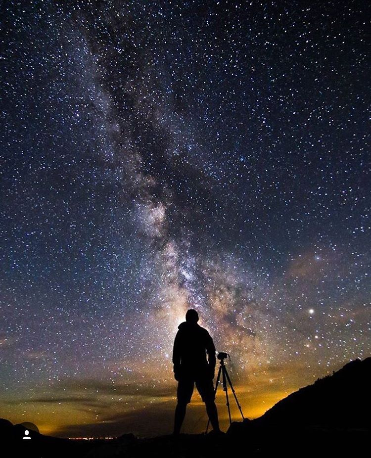 @oliverguyphoto showing us how it's done! Did anyone do some #stargazing this weekend? #igidaho #phgb #explore
