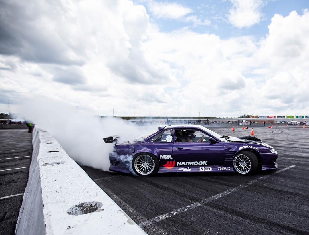 @geoffstoneback putting the s14 party car to use at @streetdriventour! #killalltires