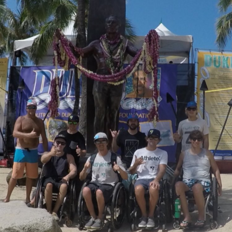 This crew is ready to take on @dukesoceanfest in Waikiki #adaptivesurf #