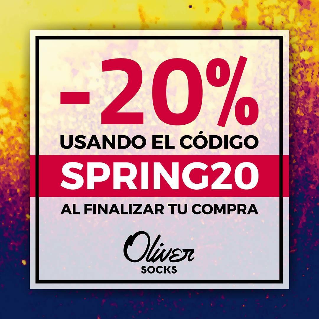 ¡Nueva promo en #OliverSocks! Disfrutá de un 20% de descuento en todos los modelos de la web utilizando el código SPRING20 al finalizar tu compra.  Además, envío gratis a todo el país y pago en cuotas con todas las tarjetas. Ingresá ahora a la...