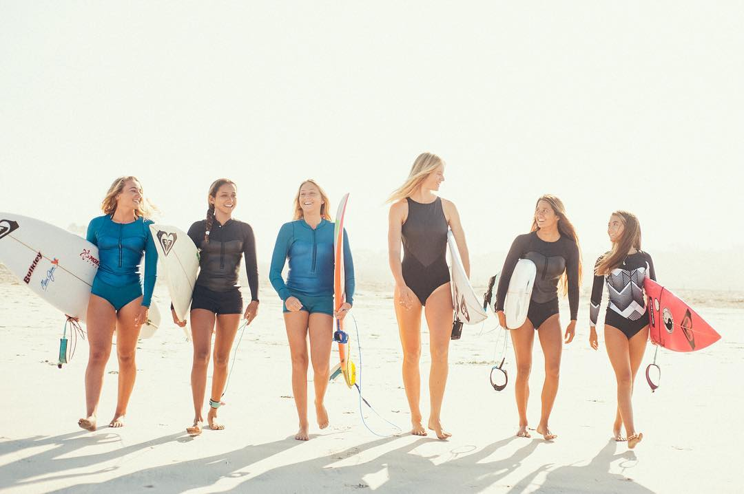 California dreaming with the #ROXYsurf squad ☀️