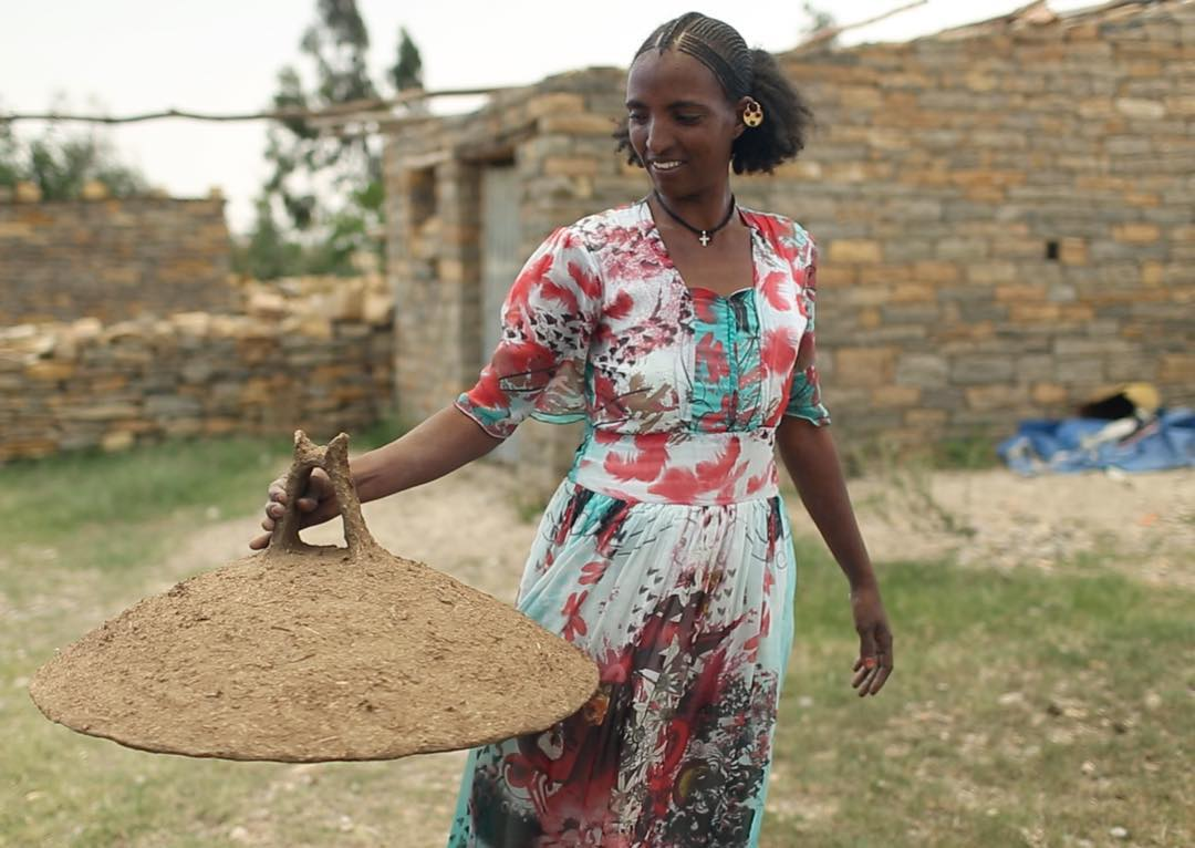 30-year-old Harifa Kiros makes and sells lids for injera stoves. She used to make two lids a day, but now that she has access to clean water, she has enough time to make four. Water's impact can transform lives and help families thrive. @charitywater...