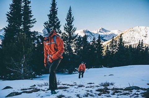 'Wandering the Backcountry With Friends In Orange Jackets' an exposé featuring the photography styling s of @mjwarnick highlighting international uber-model @bear_opitz #MHMgear #PacksElevated