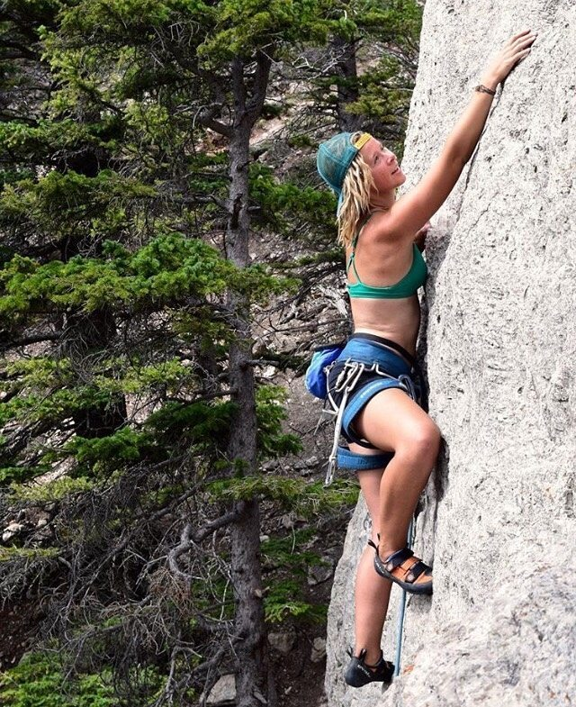 #getoutthere … and scale a dang rock wall!