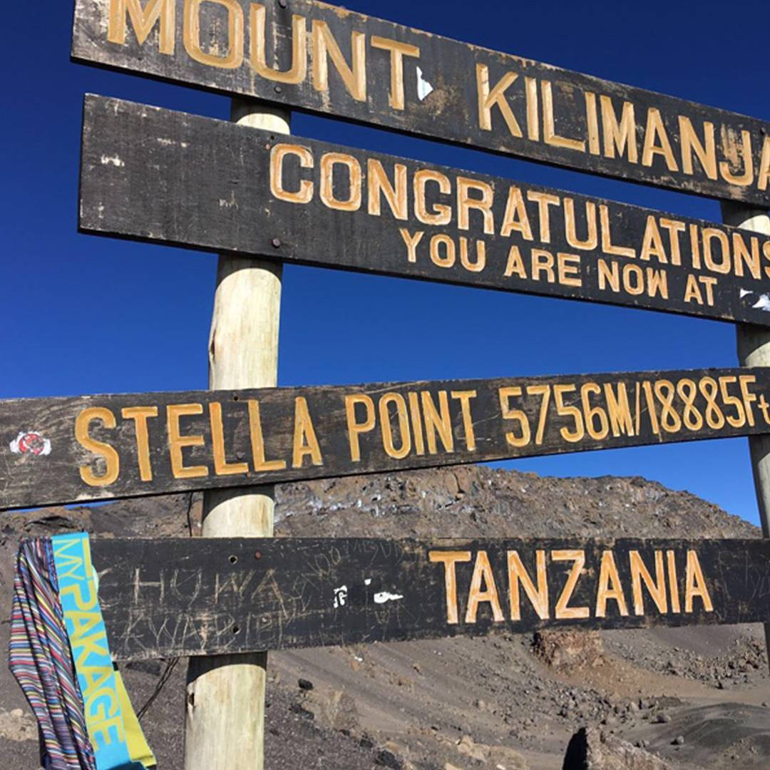Our friend, @craigmac_ reaching new heights in Tanzania. #kilimanjaro #PermissionToPlay #MyPakage #bucketlist