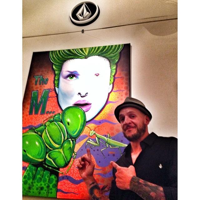 Nuestro #featuredartist en la presentación de #preservethehorror #art #volcom