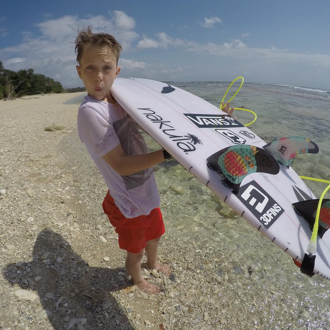 11 year old Kobi Clements has just returned from an epic adventure in GLand keep an eye out for Kobi's footage on Coastalwatch. Kobi's signature fin featuring Dimple technology is designed for groms available now at www.3dfins.com #3dfins #3dfins_br...