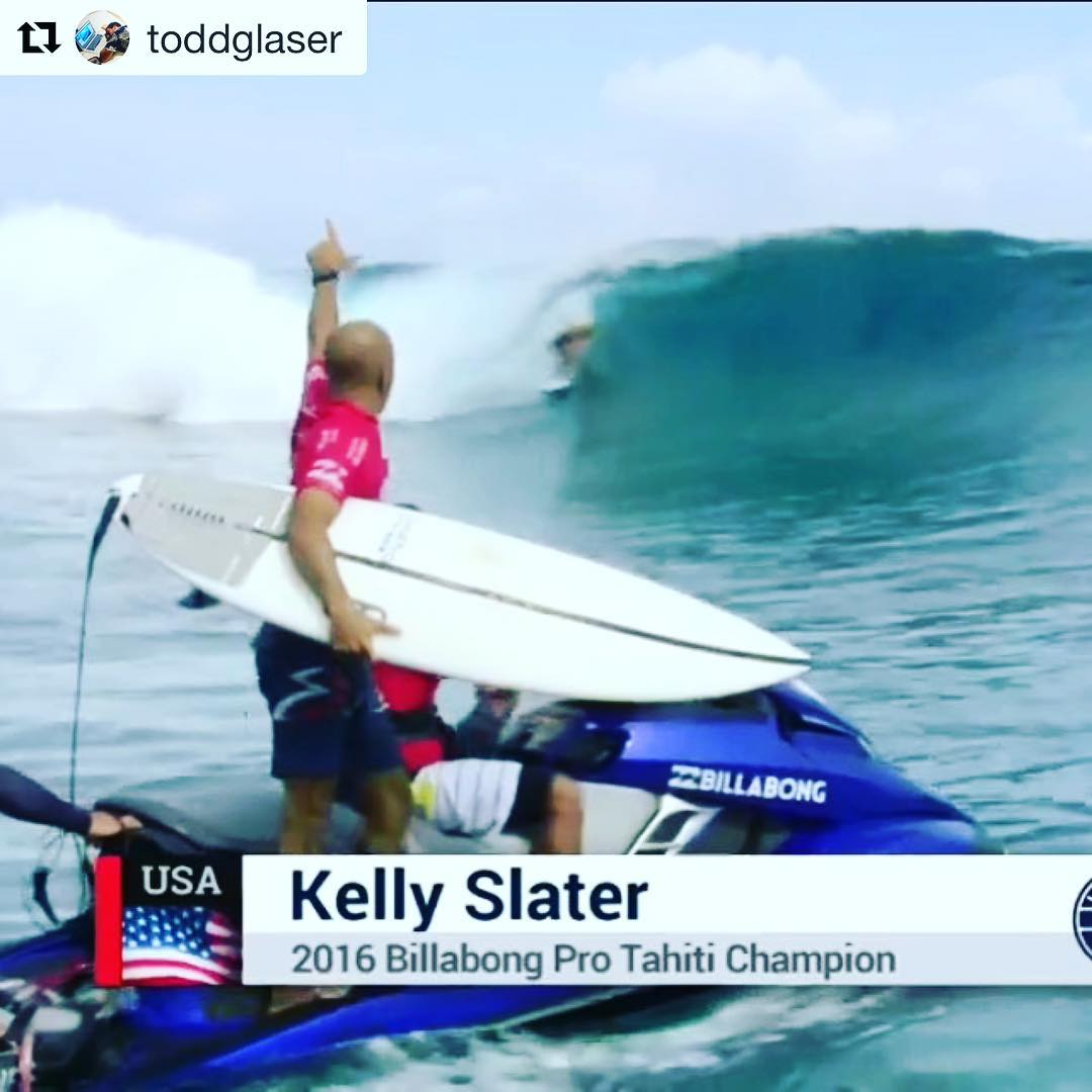 We've never seen @surfer_magazine #LenzSavant @toddglaser take a picture of @kellyslater that was this out of #focus, poorly #exposed, and overly #saturated... So you know this had to be a very special moment