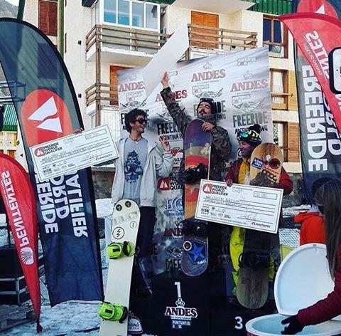 """Manu Albisu logró un primer puesto haciendo lo que ama en el """"Freeride World Qualifier"""" #snowboarding"""