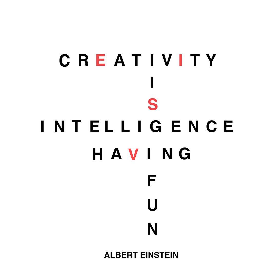 The always earnest and infinitely quotable #AlbertEinstein on #creativity.