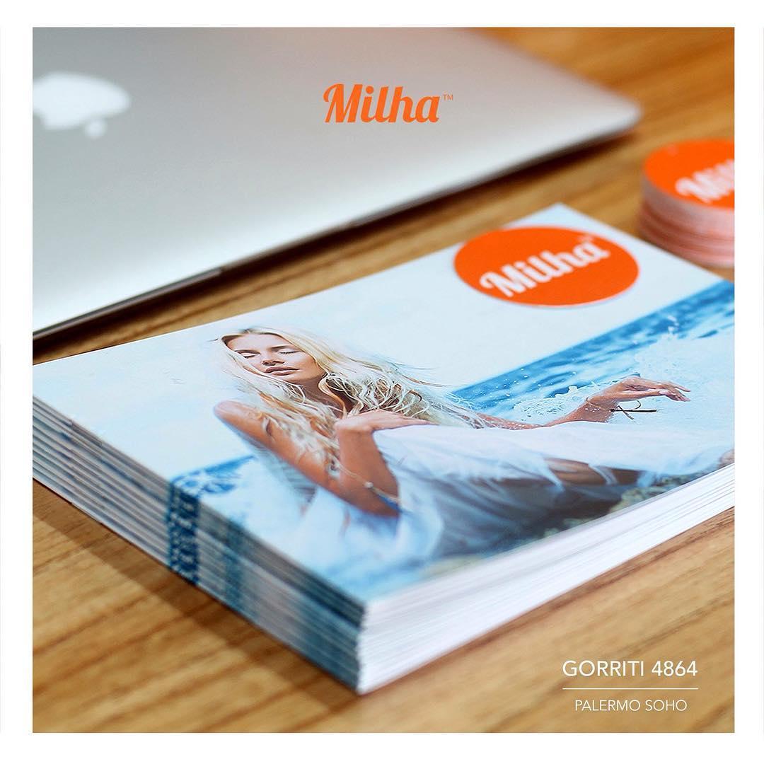 Llegaron los catálogos para el local de Palermo SOHO! Vamos preparando la apertura! #milha #milhasoho #zapatillas