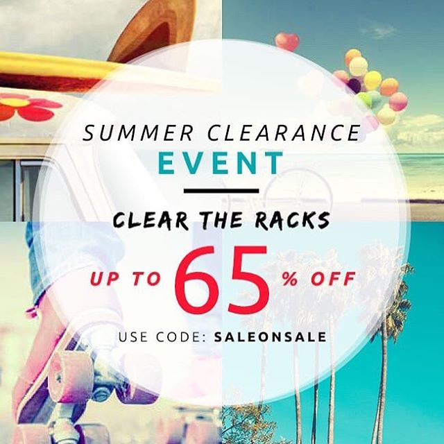 The sale starts now! #summerclearance #saleonsale #livesustainably