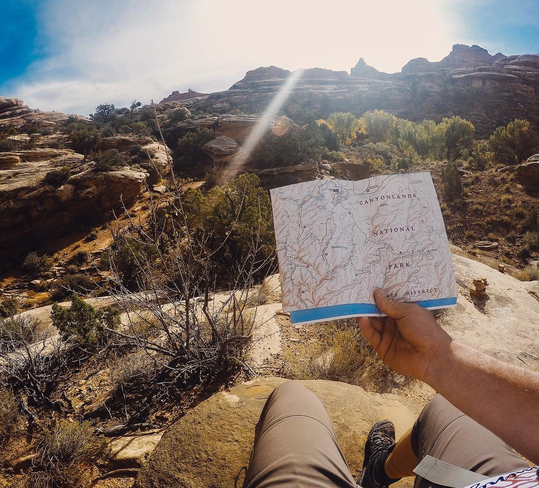 The @nationalparkservice #NPS100 finds its way to @canyonlandsnps. @sheldonbikeskc had the right idea, pack the map when #backpacking through the #Needles district. We know you love #NationalParks as much as we do, so share your favorite park with us!...