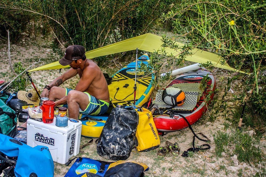 "Who needs a pillow top mattress when you have a Hala sup? @saadventuresports and his crew are up for ""Expedition of the year"" at the SUP Awards. You can vote at supawards.com #StandOnTheRioGrande"