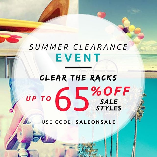 The sale starts now! #summerclearance #saleonsale #livesustainably
