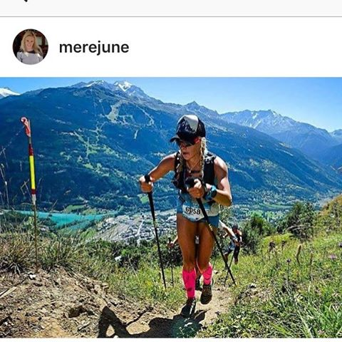 Huge congrats to @merejune for coming in second at the @utmbmontblanc ultra race! Widely regarded as one of the hardest single stage ultra races in the world,  the #utmb covers a distance of 103 miles with 9,600 meters of elevation gain!  Mere crushed...