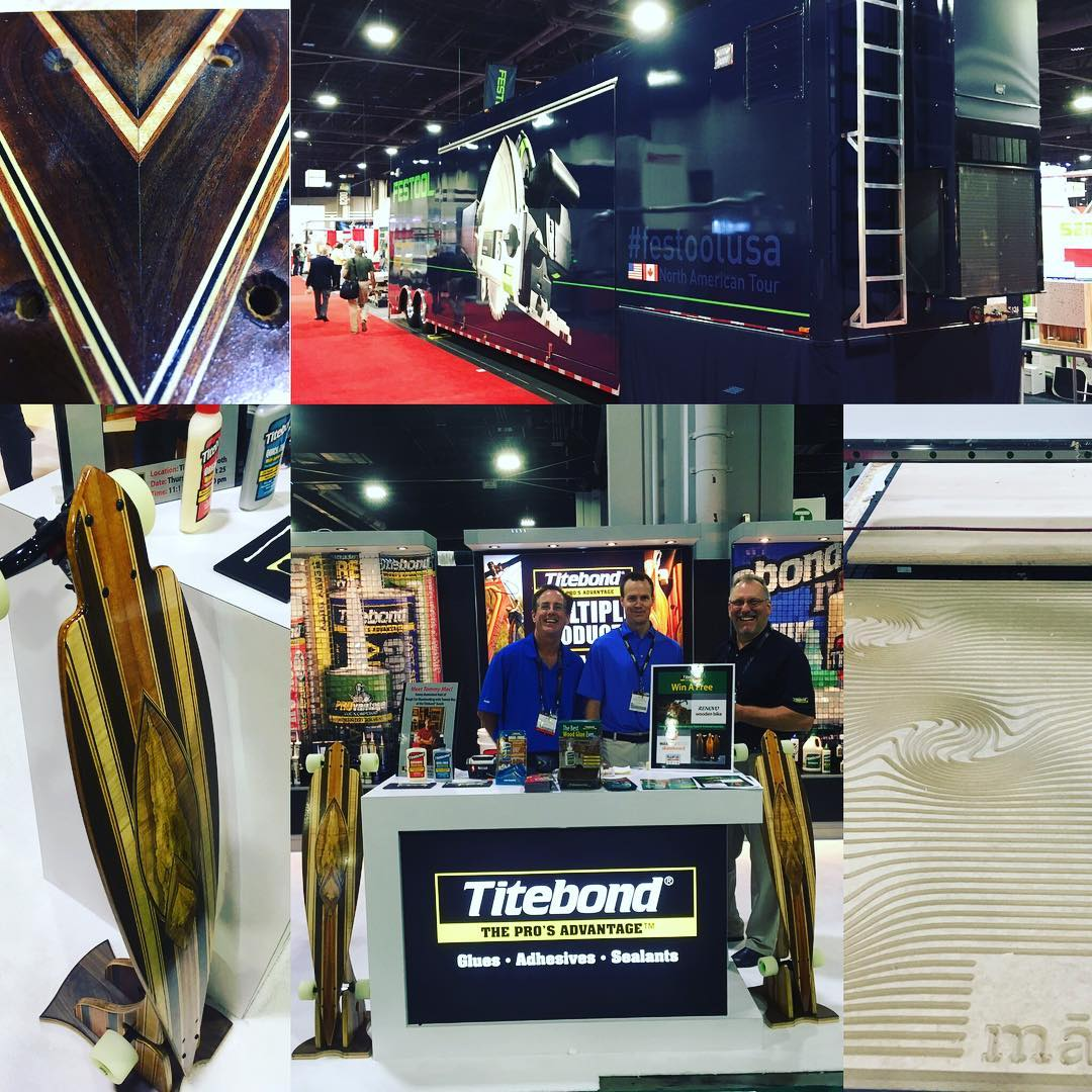 #iwf2016  Innovation at it's finest. #festool  brings it with the booth #titebond with the pieces! And #Vacutherm providing the peace of mind when it comes to Dry wood.