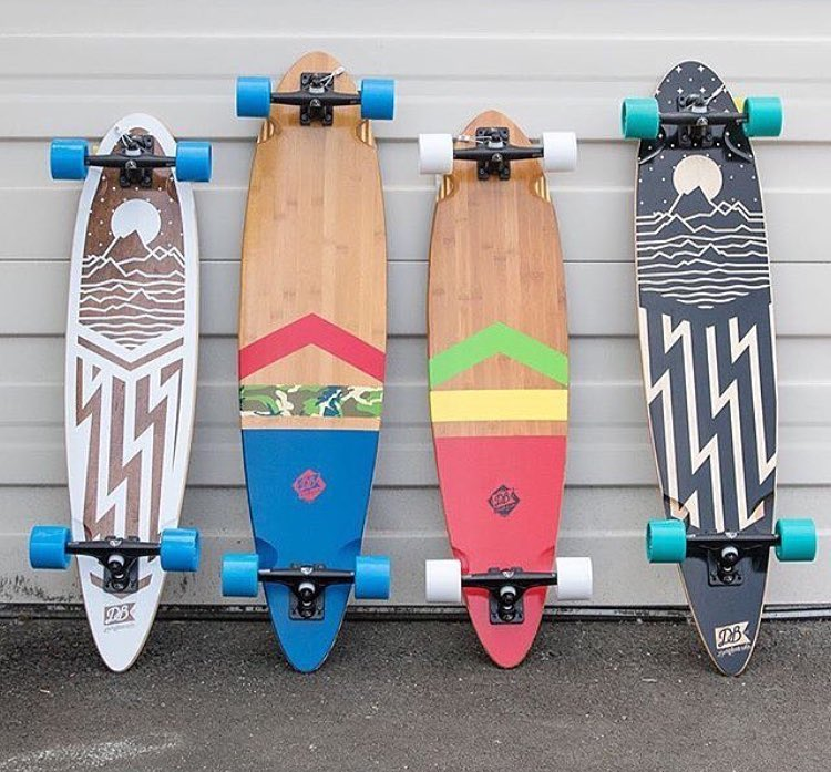 Our pintails sitting pretty waiting for an end of summer push. #dblongboards #pintail #longboard #longboardinf