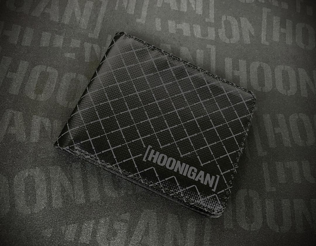 Irons Wallet Hoonigan's first wallet Tarpaulin construction - water-resistant  Ability to hold 6 cards  2 compartments to hold receipts and money if you actually have any. #hooniganDOTcom