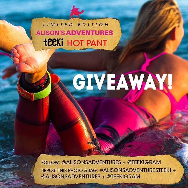 DAY TWO! INSTAGRAM ONLY: Win your pair of Alison's Adventures + Teeki hot pants by following these two easy steps:  1) Follow @teekigram & @alisonsadventures  2) Repost this photo and tag @alisonsadventures @teekigram #alisonsadventuresteeki  Winner...