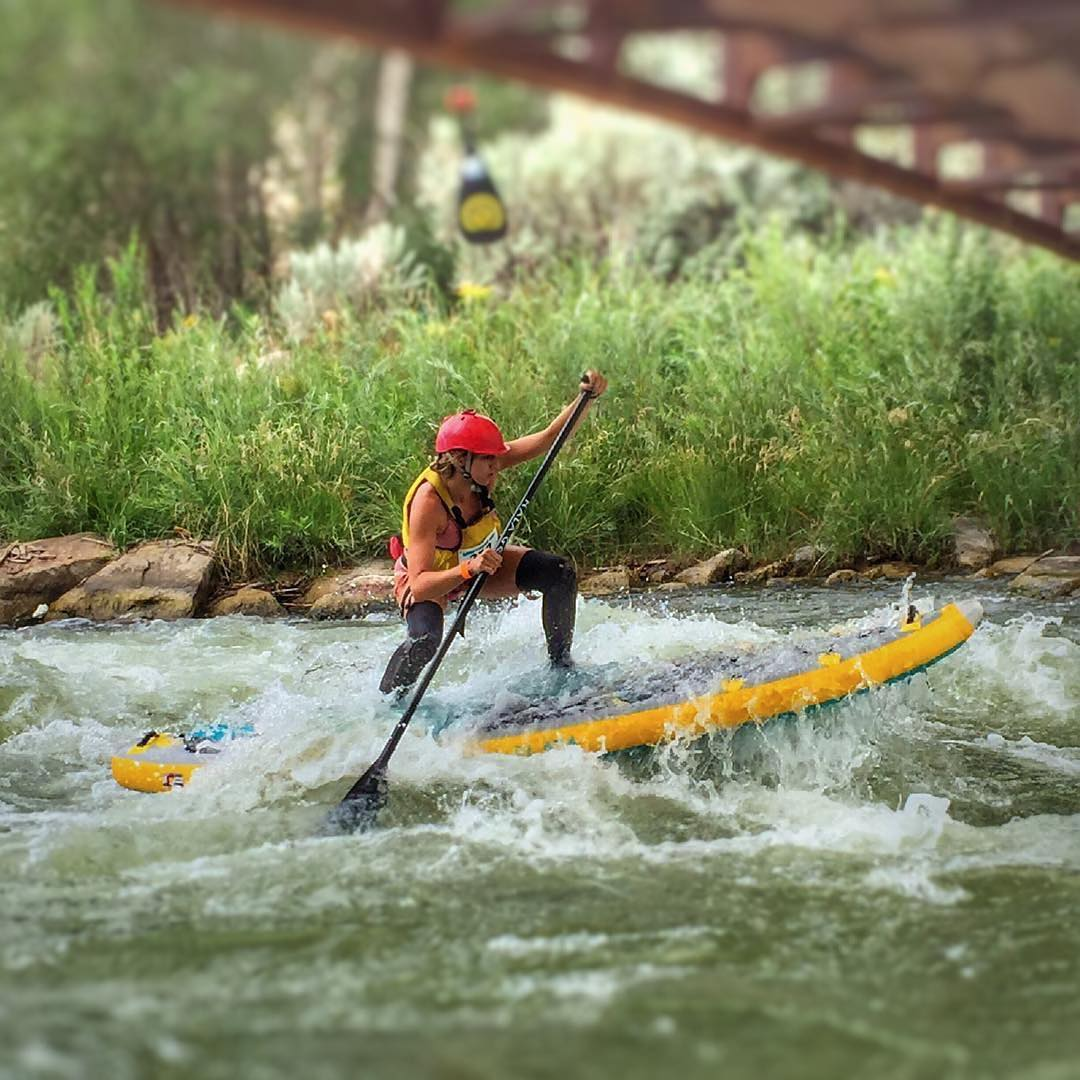 @flowathlete has been dominating the whitewater sup race circuit this year on the #halaplaya!