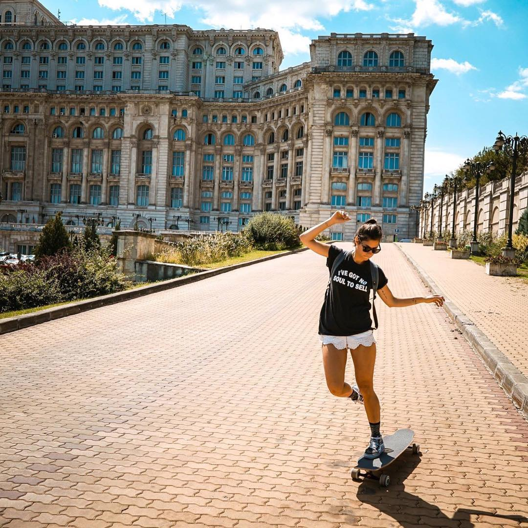@valeriakechichian exploring Bucharest with our LGC Board. Who's around Romania?