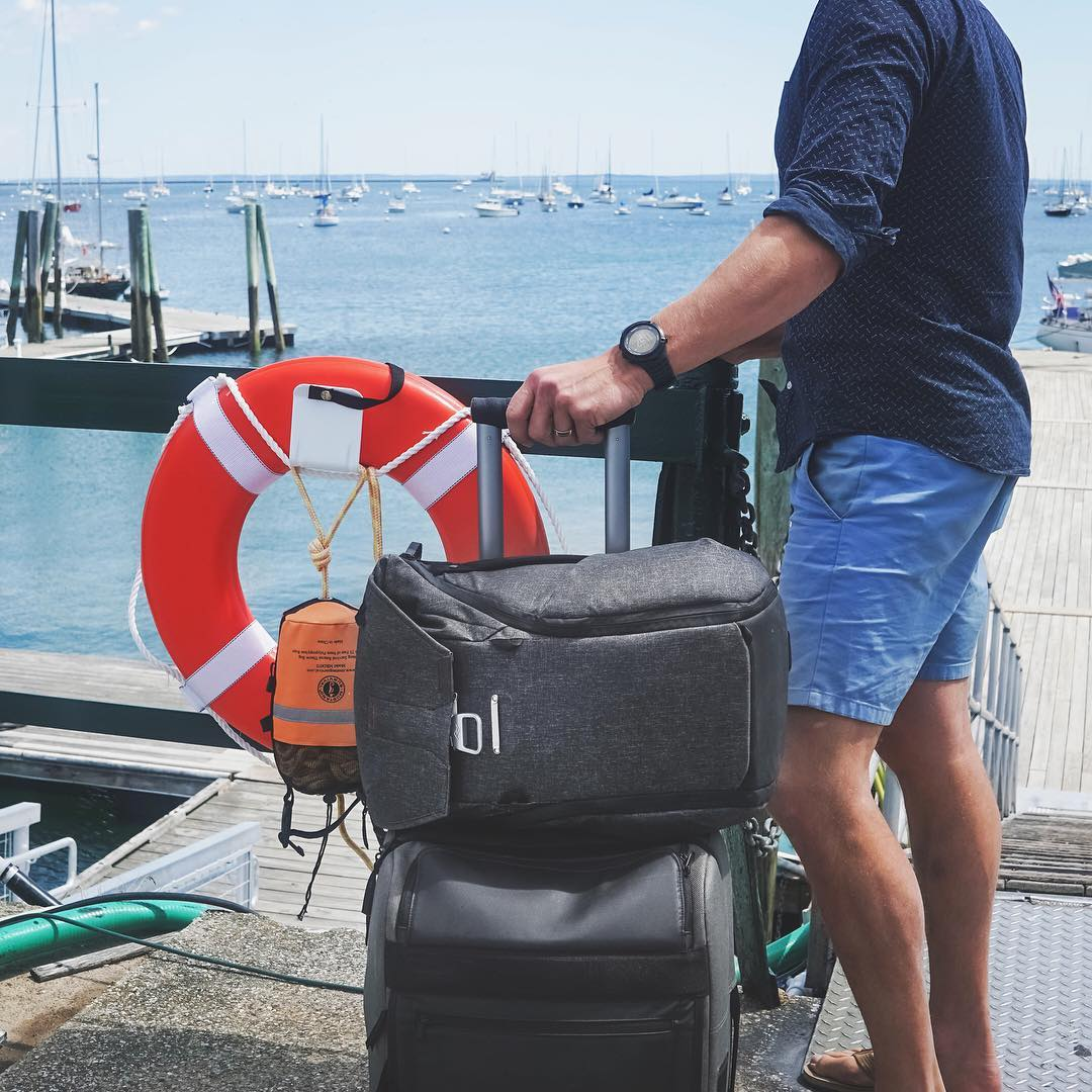 Integrated luggage attachment means that Everyday Bags are ready for a quick weekend getaway (@lockettphotos in Maine with a 20L Backpack here). Where are you heading this weekend? #pdkickstarter16 #findyourpeak