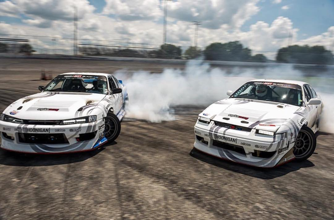 Our Pro 2 homies @natehamilton144 and @k_lawrence352 with the tandem party. #hoonigan #schassis