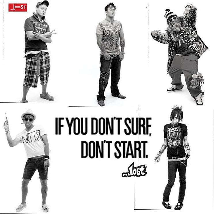 "#FBF from when we did the "" If you don't surf, don't start campaign."" Tag a friend who looks like one of these guys! #ifyoudontsurfdontstart #surfing #lostcha"