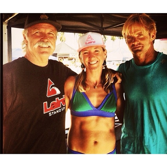 Local Honey team rider and Santa Cruz local, Kimberley Gomez, is one of the most well rounded waterwomen we have had the pleasure of meeting! We love this photo of Kim at Battle of the Paddle with Laird Hamilton and Bob Pearson. Kim and her husband Jay...