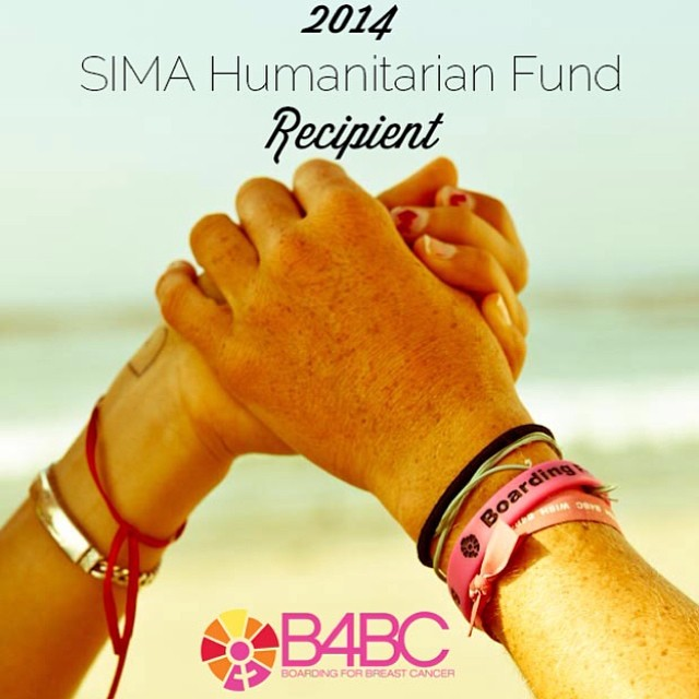 We are SO stoked to announce that B4BC has been selected as a 2014 @SIMA_surf Humanitarian Fund recipient, alongside some amazing organizations whose work is truly inspiring!! On behalf of our entire community, THANK YOU to #SIMA Humanitarian Board of...