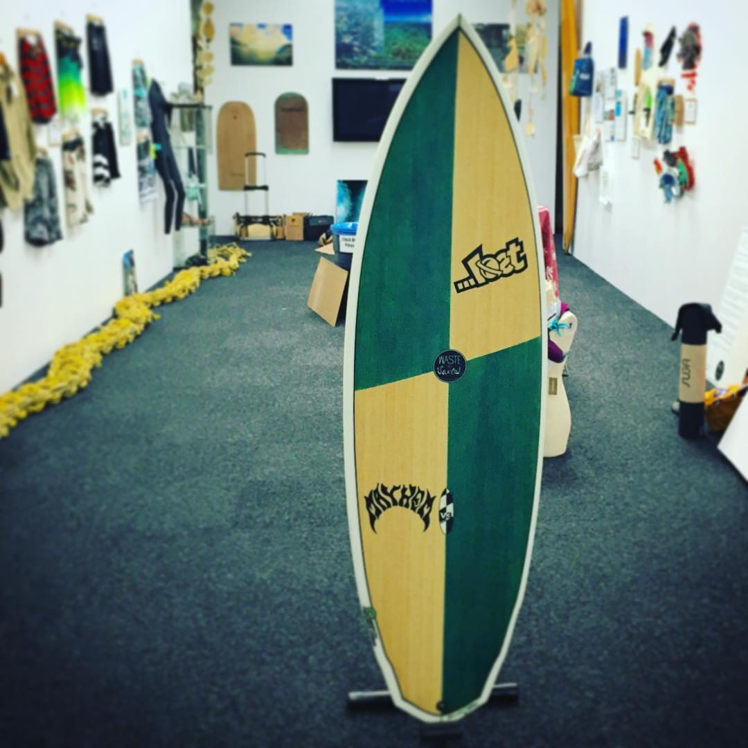 We sent a lot of cool #eco surf products from recycled, up-cycled or repurposed waste materials,  over to @surfingheritage museum  for the opening of their new exhibit tomorrow - and we're glad to see that nothing got #Lost