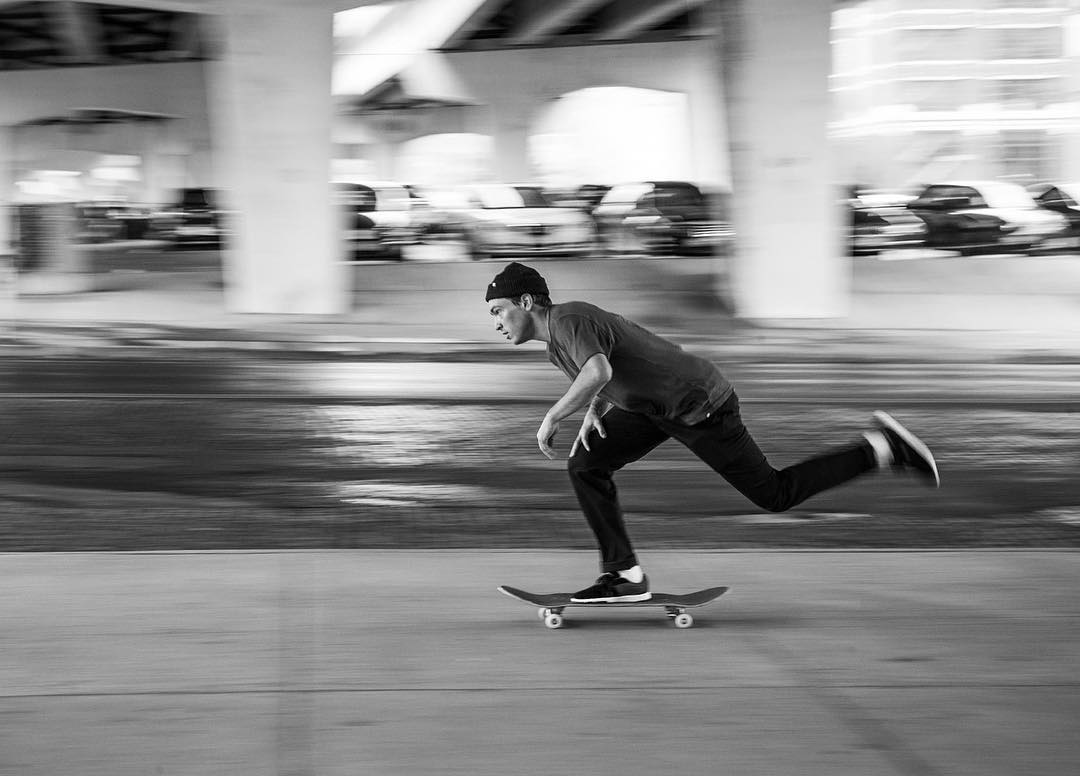 Cruising the streets that he grew up on. Worker straight chino Black & Death Valley shirt: DC Defined by @davistorgerson, Fall 2016. Photo: @blabacphoto. Dcshoes.com/dcxdavis #dcshoes #dcdefinedby