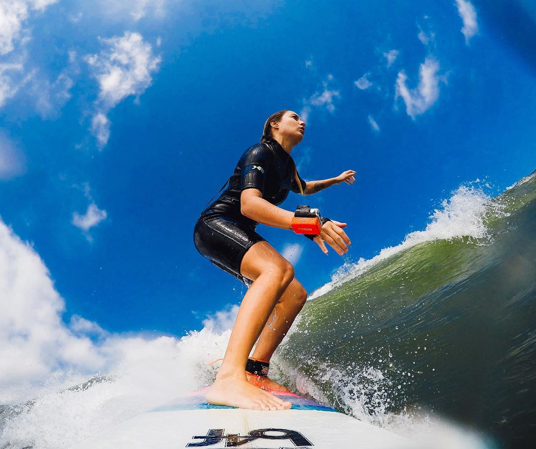 Photo of the Day! #GoProGirl @ninanhaiaa ripping the weekend vibes.✌️ #GoPro #GoProSurf #Surf