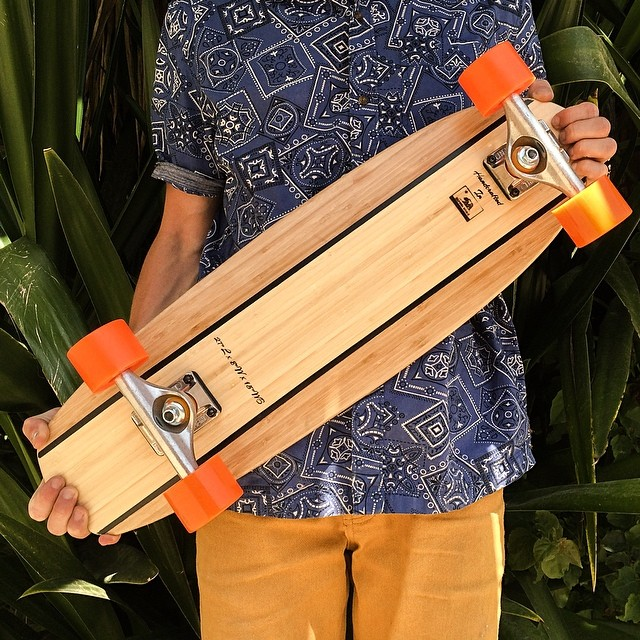 Our Two Tone Design is now available in all three Roots sizes. Check it out at: www.naturallogskate.com #naturallogskateboards #handcrafted #bamboo #cruiser #skateboards from #sandiego #california