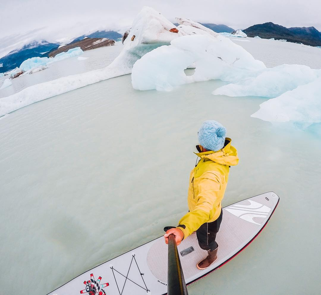 Photo of the Day! Shout out to #GoProAwarsa recipient @natalizollinger for turning a day on #AlsekLake into $500! Congrats! #GoPro #Alaska #Glaciers #Icebergs