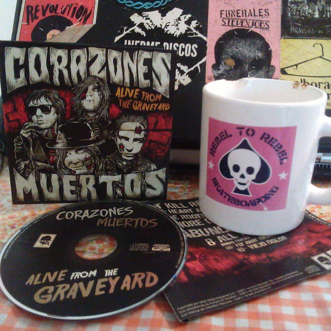 """@corazonesmuertos """" alive from The graveyard"""" cd Gracias@joeklenner"""