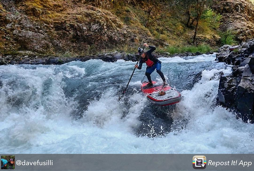 @davefusilli taking his sup to some cool places. Stealhead falls on the White Salmon. Repost from @davefusilli using @RepostRegramApp - My second Stealhead sup attempt. Stealhead 1, Fusilli 1. All tied up right now. #standup #standupcomedy #starboard...