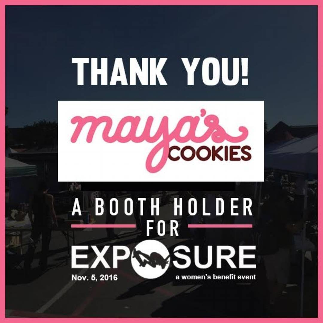 "It's safe to bring your Inner Cookie Monster out to Exposure this year! ""Crispy on the outside, chewy on the inside,"" and egg and dairy free!? We can't wait to have some of Maya's Cookies at EXPOSURE! From Vanilla-Rum shortbread to the classic..."