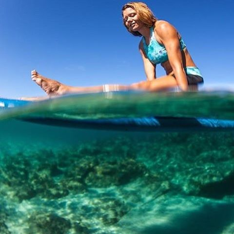 A little Sunday stretch! Tarni Short and Leilani Tank in adventure! @swellliving by @paddlehawaii