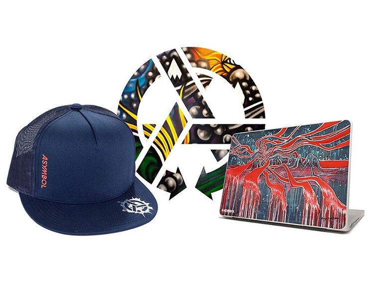 Ramp up your back to school game with our Weekly Good School Mini-Kit. Cop a trucker hat, a Guch laptop skin and an unreleased Jamie Lynn sticker pack for 50 bones. Link in profile. #asymbol #backtoschool