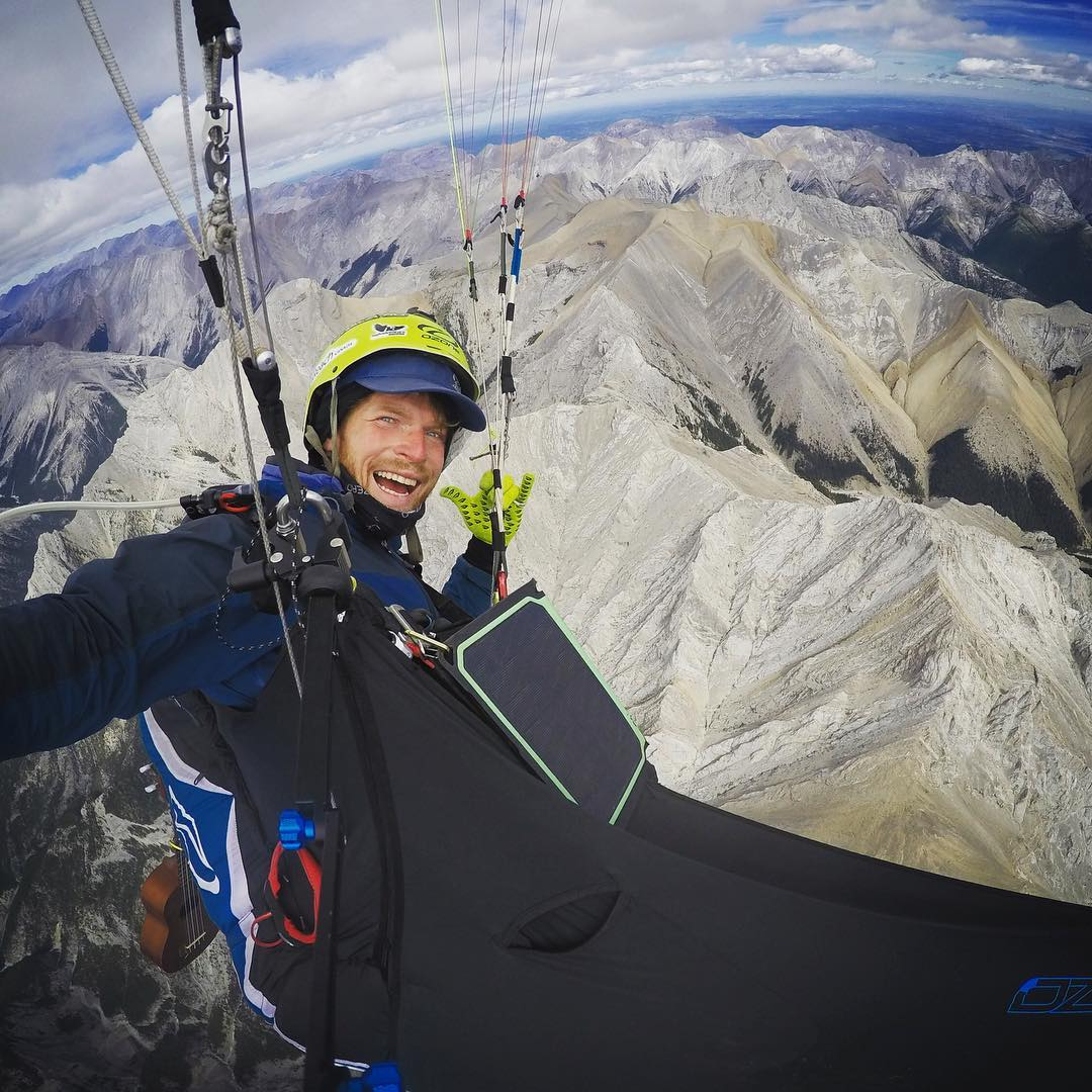 "XBC||@benjaminjordanadventure|| ""I always knew someone would do it. I just never imagined it would be me. The potential of paragliding over the entire span of Canada's southwest mountain ranges, has been my great dream since moving out here 10 years..."