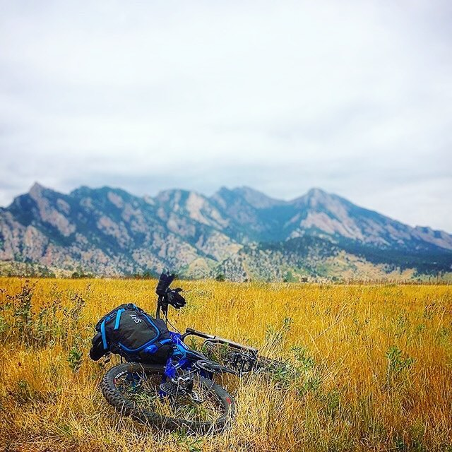 Either @sethdreidelhill took this after a successful ride or this is photographic evidence from the Boulder County Sherrif's Missing Persons division. Seth, bark twice if you're in Milwaukee! #MHMgear #PacksElevated