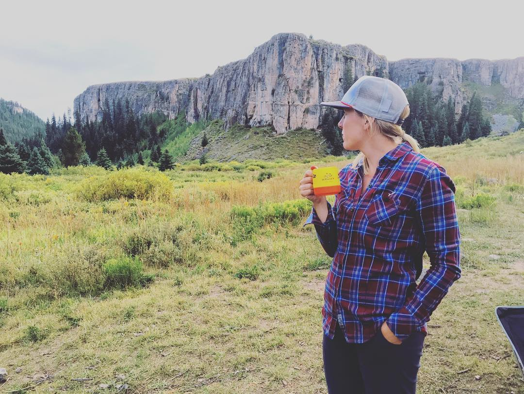 Early morning coffee break at the base of 'The Prow' in Lime Creek just outside of Eagle Colorado. In it's adolescent stage, Lime Creek is still relatively unexplored by climbers with many first ascents still to be had.  #limestonelove...