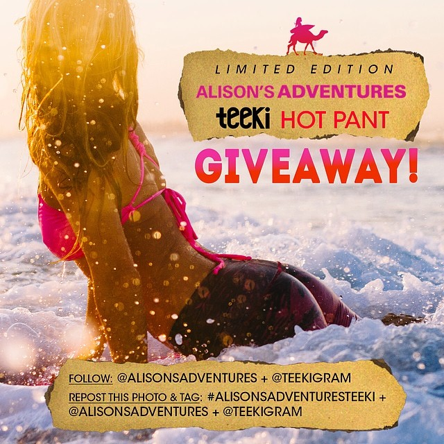 LAST DAY! INSTAGRAM ONLY: Win your pair of Alison's Adventures + Teeki hot pants by following these two easy steps:  1) Follow @teekigram & @alisonsadventures  2) Repost this photo and tag @alisonsadventures @teekigram #alisonsadventuresteeki  Winner...