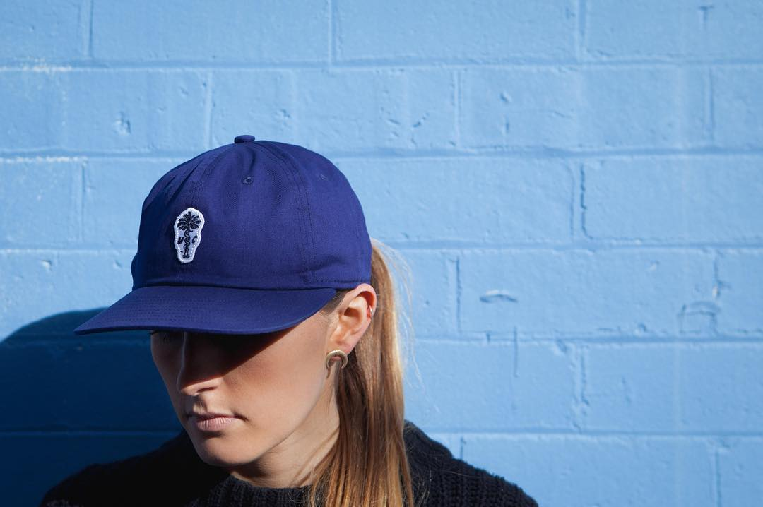 Mix snakes, a palm tree, and some navy blue for The Paradise cap, our #collaboration with @monsterchildren. Available exclusively in their webstore.